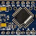 Arduino Pro Mini with added clock crystal, David Pilling