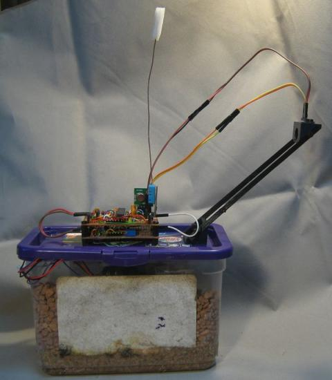 Liquid level sensor using a laser time of flight sensor