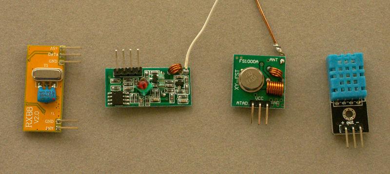 Wireless Temperature Sensor using RF
